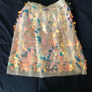 Cat & Jack Holographic Raindrops Sequin Skirt